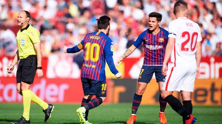 ¡Messi ha vuelto! 'Doblete' número 116 para rescatar al Barça en el Sánchez Pizjuán