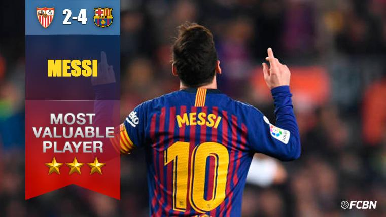 Héroe del Barcelona: Pillería, 'hat-trick' y remontada colosal de Messi al Sevilla