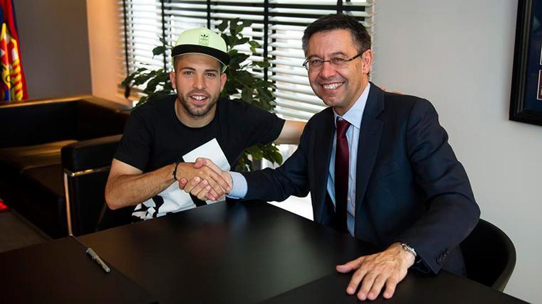 OFICIAL: Jordi Alba renueva con el FC Barcelona hasta 2024