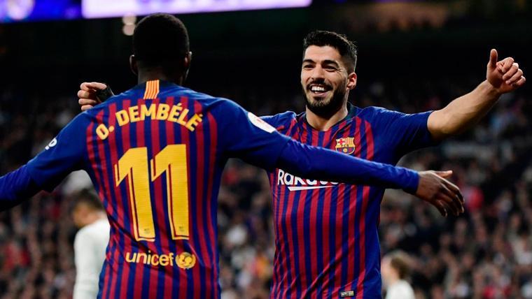 Dembélé sigue dando alegrías al Barça: Con Messi desconectado, se puso la capa de líder