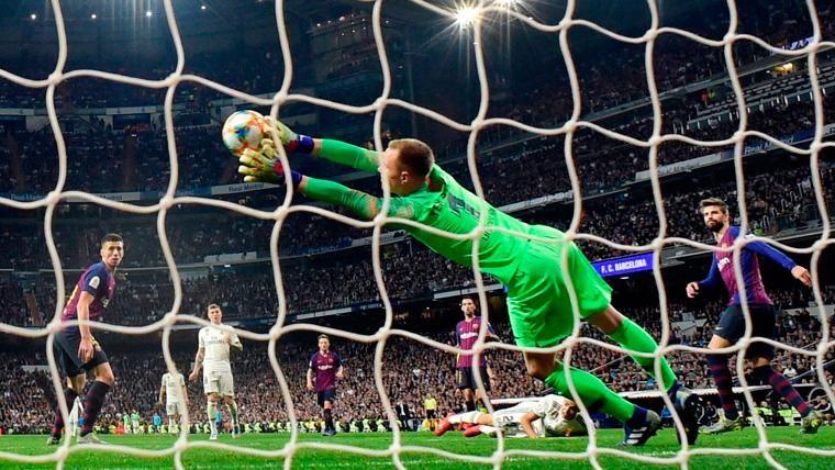 Marc-André Ter Stegen en un partido con el FC Barcelona