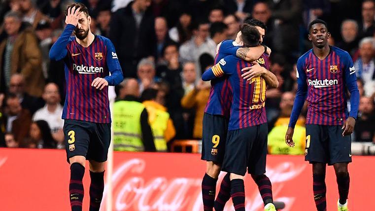 Messi, Suárez y Dembélé celebran un tanto