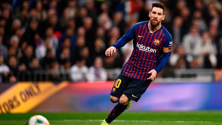 Messi durante el partido contra el Real Madrid