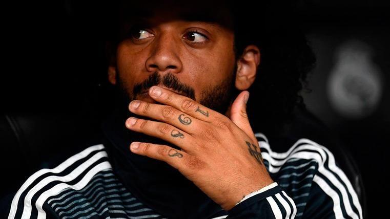 Marcelo en el banquillo del Madrid