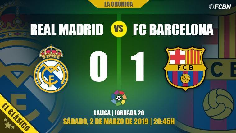 El Barça derrotó al Real Madrid