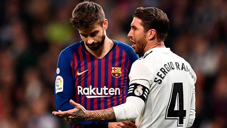 La conversación entre Sergio Ramos y Piqué tras el manotazo del madridista a Messi