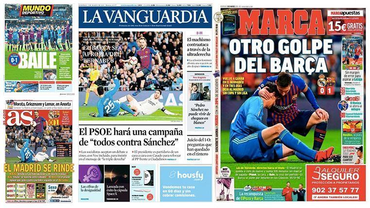 La prensa nacional y mundial coincide: KO del Barça a LaLiga