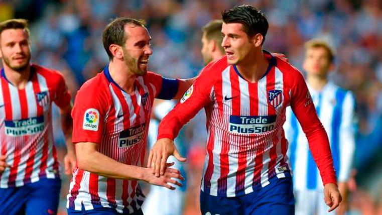 El Atlético derrota a la Real con 'doblete' de Morata y sigue en la pelea por la Liga (0-2)