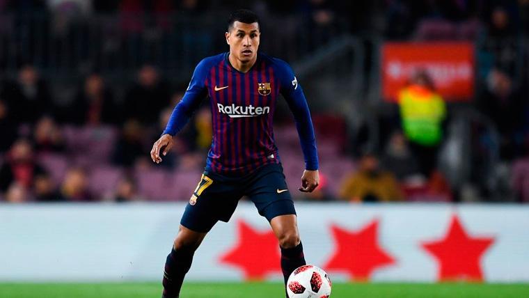 Jeison Murillo en un partido del FC Barcelona