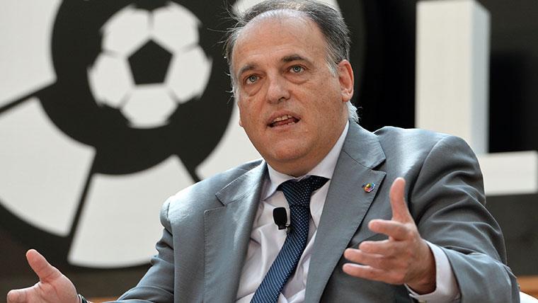"""Tebas critica a un Real Madrid al que acusa de tener """"demasiado victimismo"""""""