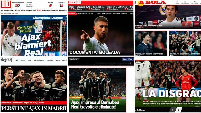 """La prensa mundial se hace eco del """"baile"""" del Ajax al Real Madrid en Champions"""