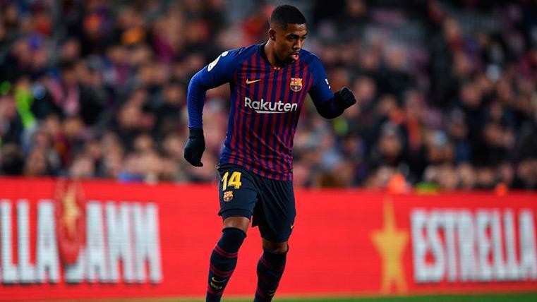 Malcom fue de los más participativos del Barça en la derrota contra el Girona