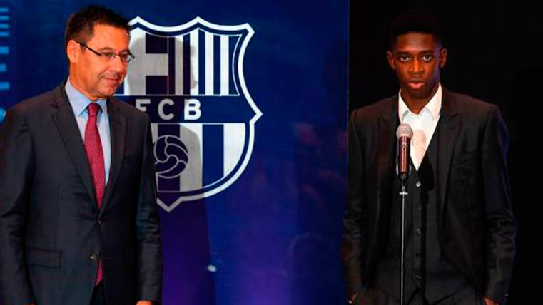 "La frase de Bartomeu que no gustará a Neymar: ""Para mí Dembélé es mejor"""