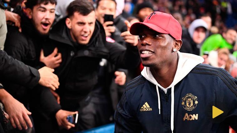 Pogba y Evra enloquecen en la celebración del Manchester United