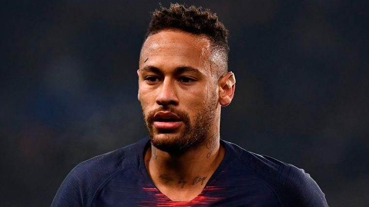 Neymar en un encuentro con el PSG esta temporada 2018-19