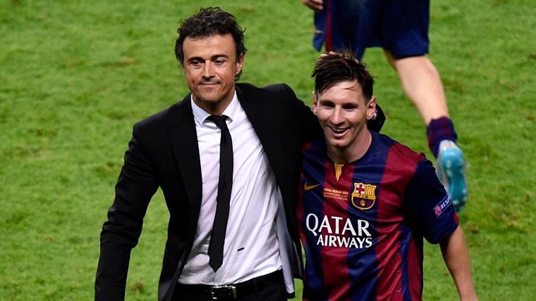 """Luis Enrique confirma un 'roce' con Leo Messi pero asegura que es un """"genio"""""""