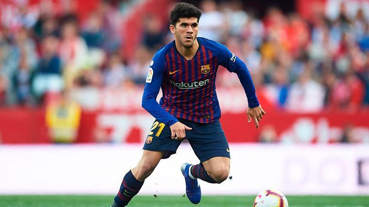 Carles Aleñá aspira a liderar el centro del campo del Barça contra el Rayo