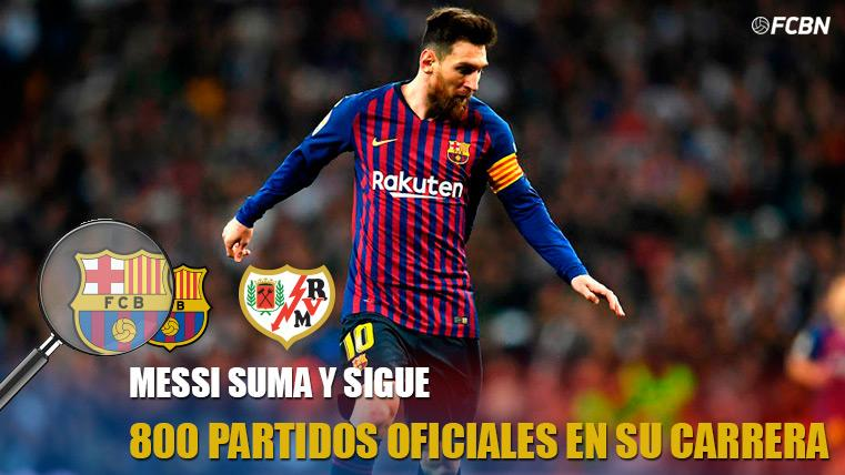 Messi cumplirá su partido 800 en su carrera futbolística