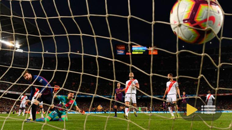 El FC Barcelona venció al Rayo Vallecano en el Camp Nou