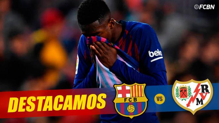 ALARMA: ¡Dembélé acabó 'tocado' ante el Rayo y es duda para el Barça en Champions!