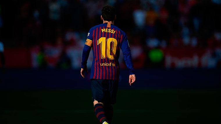 Messi, durante un partido