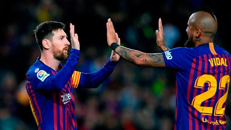 Otro partidazo de Arturo Vidal confirma su 'resurrección' en el momento justo para el Barça