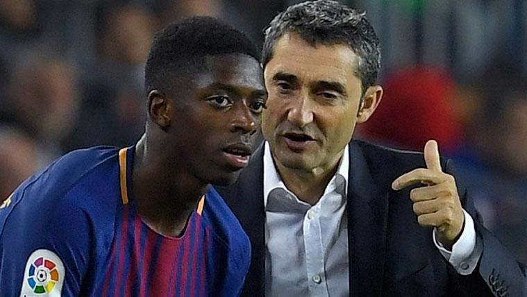 En Madrid intentan provocar una discusión entre Valverde y Dembélé