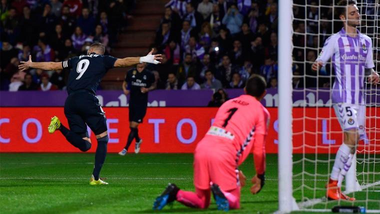 El Valladolid, el VAR y Benzema salvan al Madrid en el José Zorrilla (1-4)