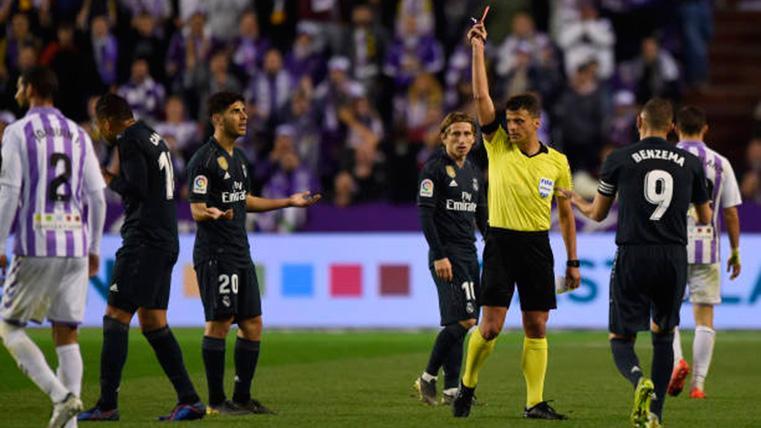 Carlos Casemiro, expulsado contra el Real Valladolid