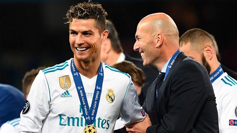 Cristiano Ronaldo y Zinedine Zidane festejan la Champions