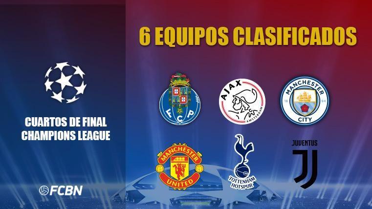 Seis posibles rivales para el Barça si pasa a cuartos de ...
