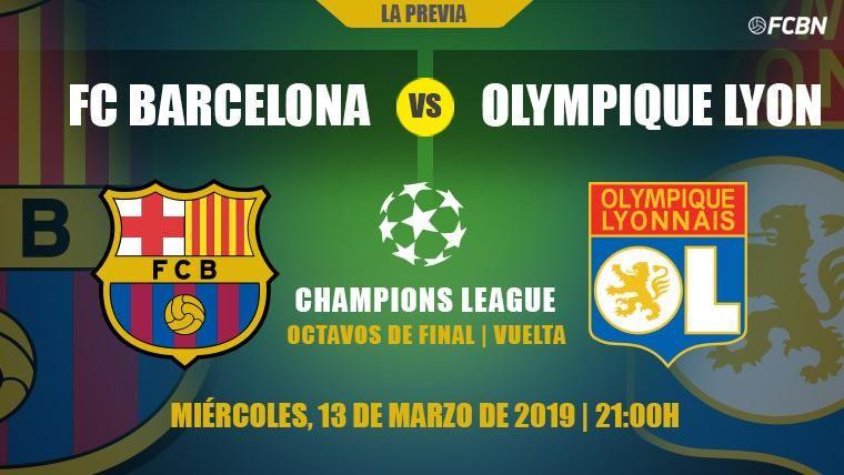 El Barça debe demostrar ante el Olympique de Lyon que quiere ser campeón de Champions