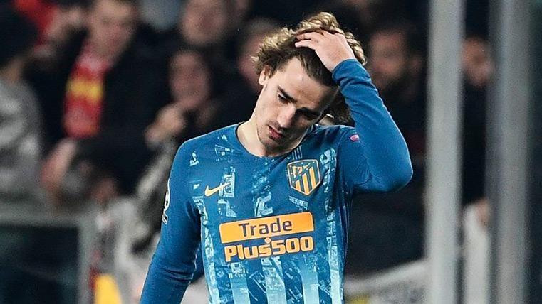 Griezmann se lamenta tras uno de los goles dela Juventus
