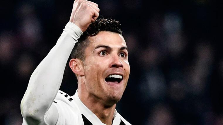 Cristiano Ronaldo celebra su gol frente al Atleti