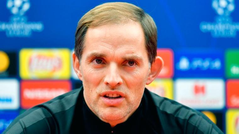Thomas Tuchel en una rueda de prensa del PSG