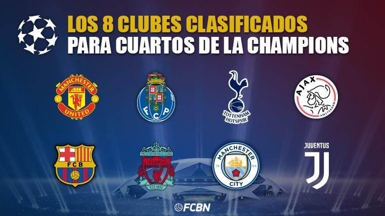 Estos son los ocho clubes clasificados para cuartos de Champions ...