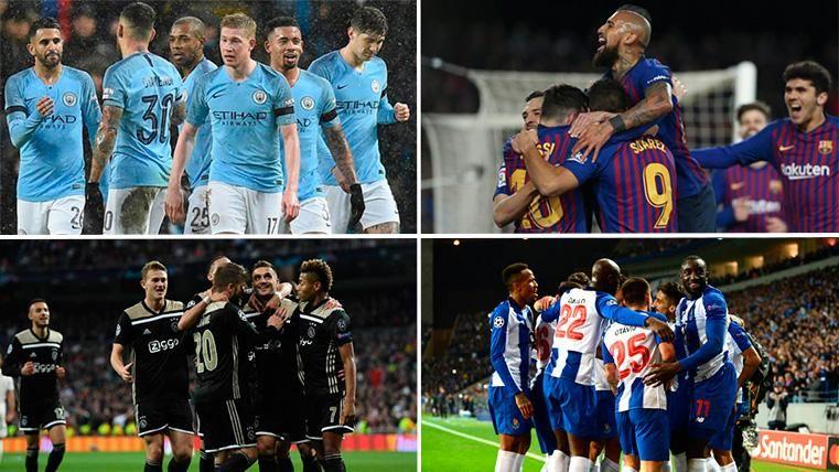 La Champions, el gran reto de Barça, Ajax, City y Oporto