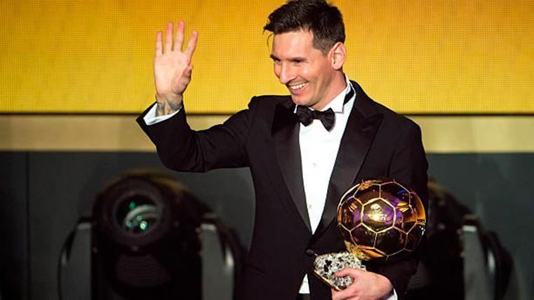 Leo Messi, con el Balón de Oro en una imagen de archivo
