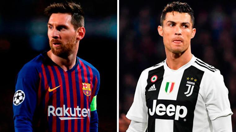 Leo Messi y Cristiano Ronaldo, con sus respectivos equipos