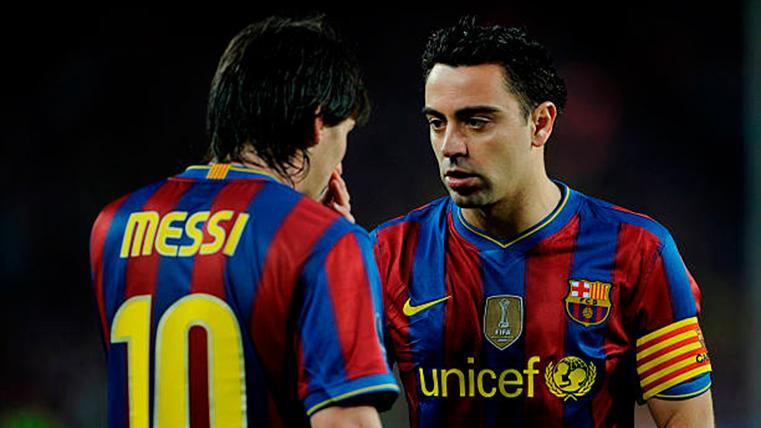 Messi igualó a Xavi