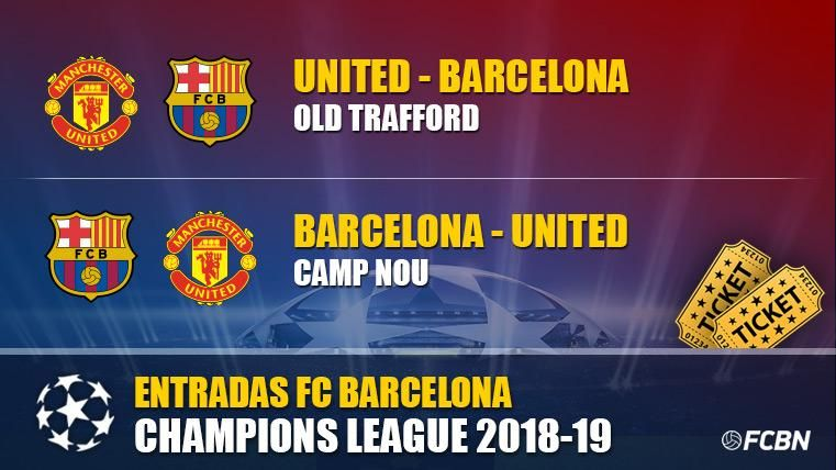 Entradas FC Barcelona vs Manchester United - Champions League 2018-2019
