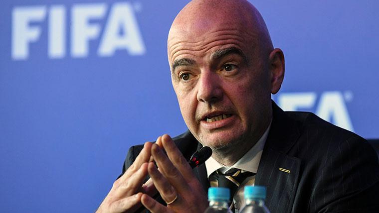 Gianni Infantino, presidente de la FIFA, en un acto de la entidad
