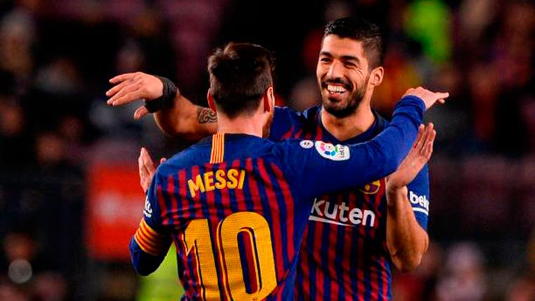 Luis Suárez y Messi, amigos y socios: Segundo golazo al Betis