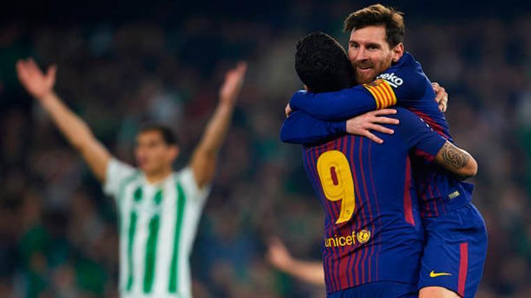 ¡Luis Suárez es un 'killer'! Se disfrazó de Messi y sentenció al Betis con el 0-3