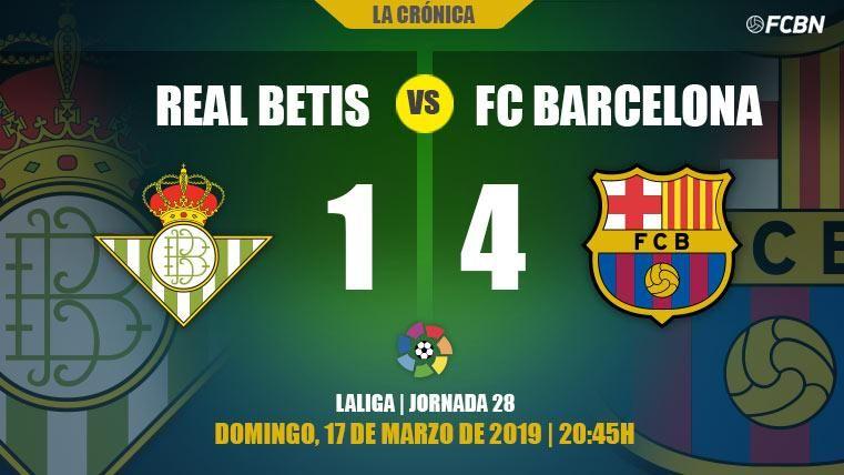 Leo Messi se come al Betis y el Barcelona da un paso de gigante hacia LaLiga (1-4)