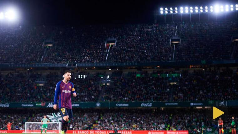 Así ovacionaron a Messi los aficionados del Betis mientras coreaban su nombre