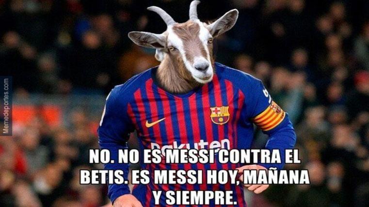 Estos son los mejores 'memes' del Real Betis-Barcelona de Liga
