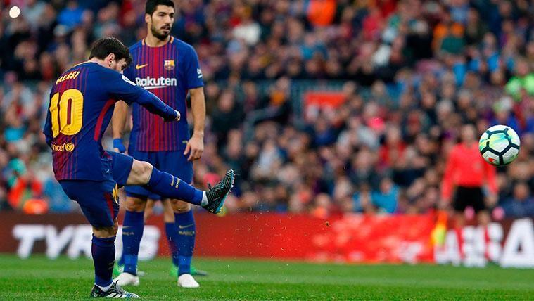 Leo Messi lleva más goles de falta desde 2011... ¡Que todo el Real Madrid!