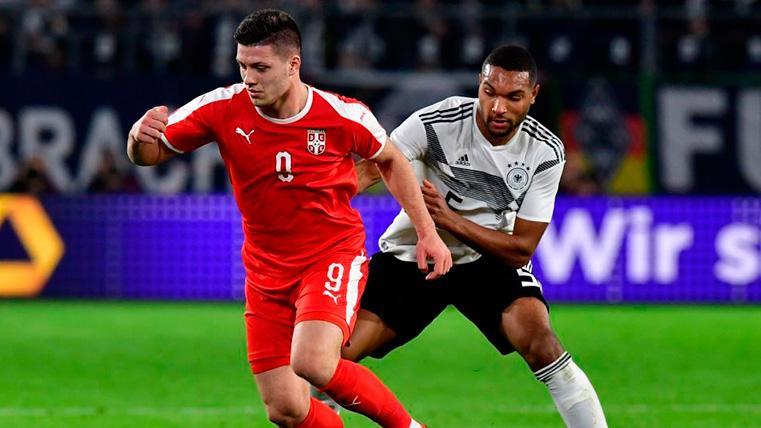 Jovic tuvo su noche contra Alemania: partidazo y primer gol con Serbia (1-1)