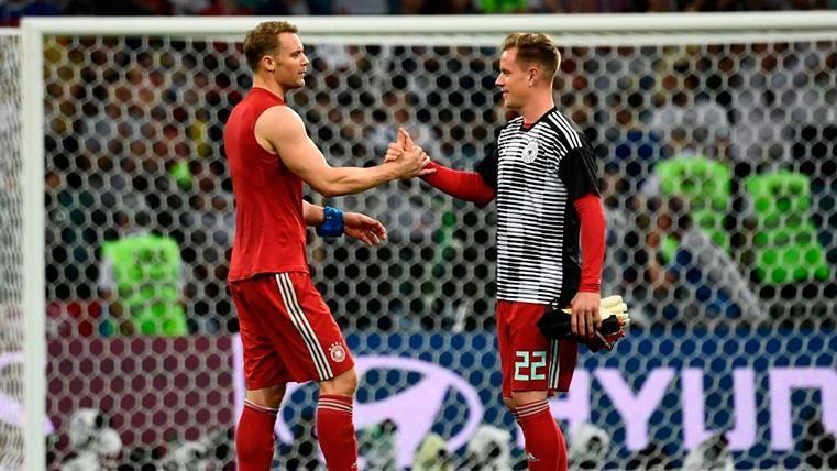 La frialdad entre Ter Stegen y Neuer hace saltar las alarmas en la selección alemana